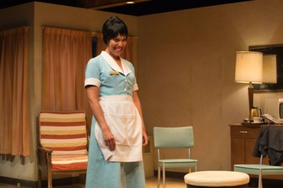 Alana Hibbert in The Mountaintop (photo by David Cooper)