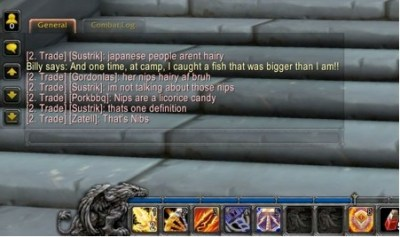 Just in case you forgot this game was played online. This is the least racist/antiHilary thing I screencapped.