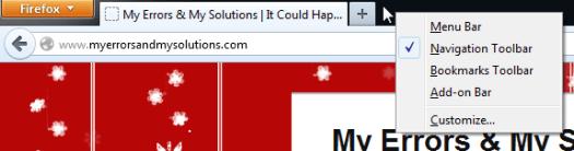 Mozilla Firefox right-click near last tab