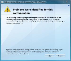 External programs prerequisite Windows PowerShell 3.0