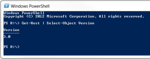 Windows PowerShell version
