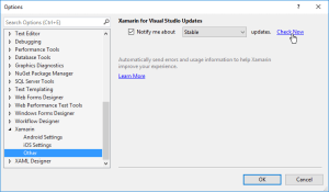 options-xamarin-other-check-now