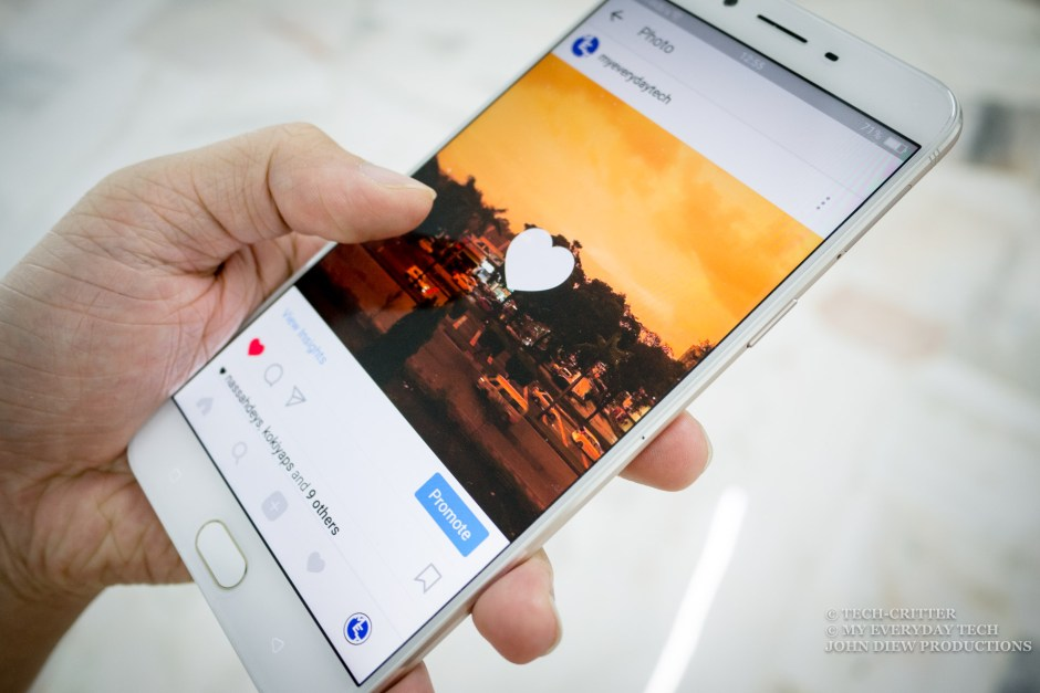 Social Media, Innocent action as double tapping
