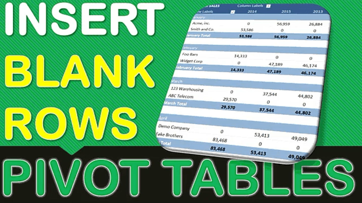 Insert Blank Rows In A Pivot Table