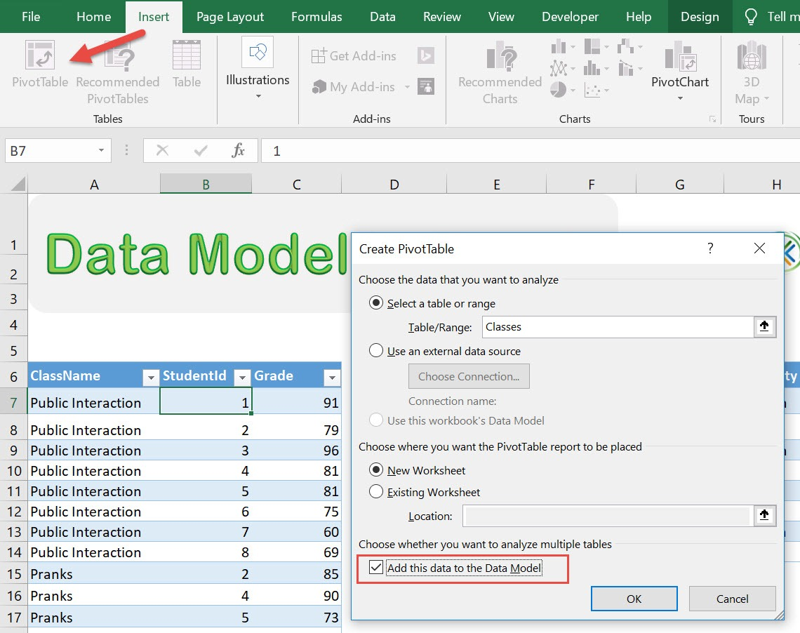 Data Model And Relationships In Microsoft Excel