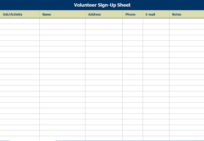 Potluck Sheet Template printable potluck sign up sheet template – Free Printable Sign Up Sheet Template