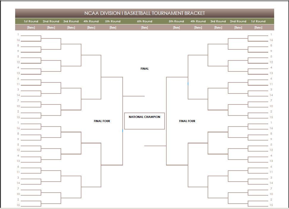 Basketball Tournament Brackets Templates tournament bracket – Tournament Bracket Template