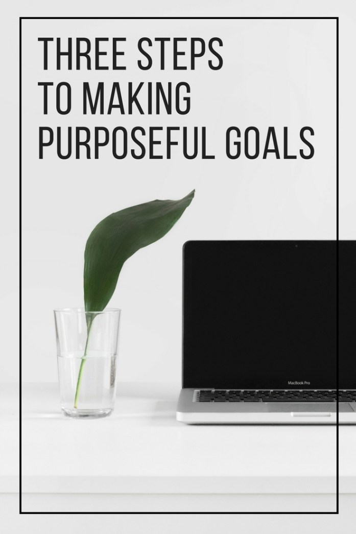 3 steps to making purposeful goals | guest post by Julia Mary