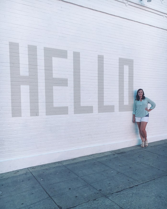 The HELLO Wall on Melrose Avenue in Hollywood, California | The Most Instagrammable Street in LA