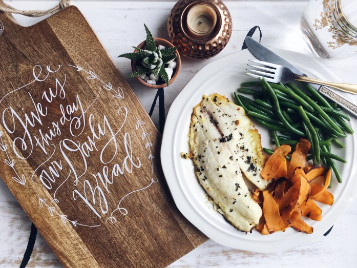 Tilapia, Green Beans and Julienne Sweet Potatoes  | 7 Things I learned from Whole30