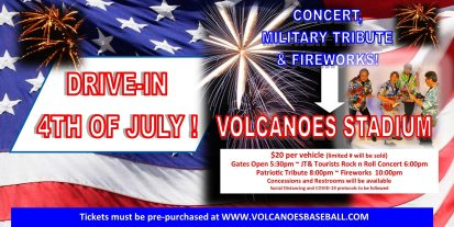 drive in volcanoes keizer 4th of july