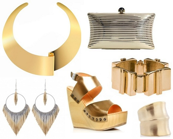 Make a statement with these must-have metallic accessories