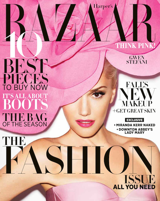 Gwen Stefani rocks Jil Sander for the Harper's Bazaar US September issue