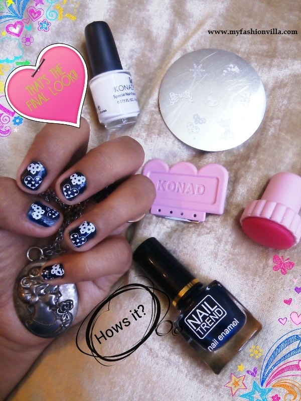 Konad Sting Nail Art Tutorial With For Short Nails My
