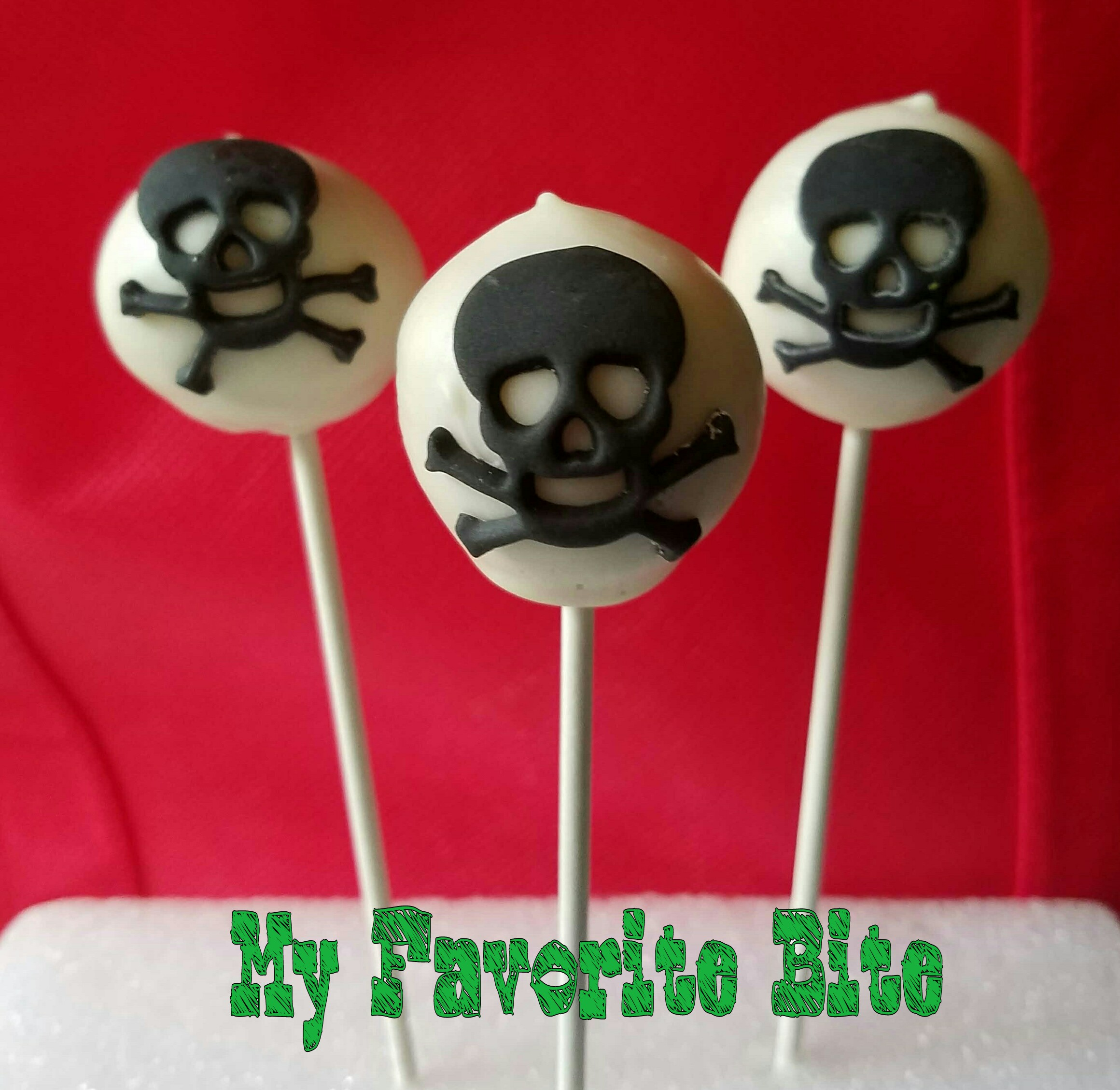 halloween cake pops – skull & crossbones – my favorite bite