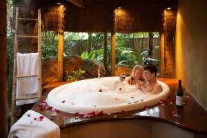 Romantic escapes near brisbane - witches fall cottage rainforest suite - outdoor spa