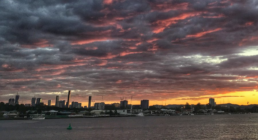 Brisbane Sunset River