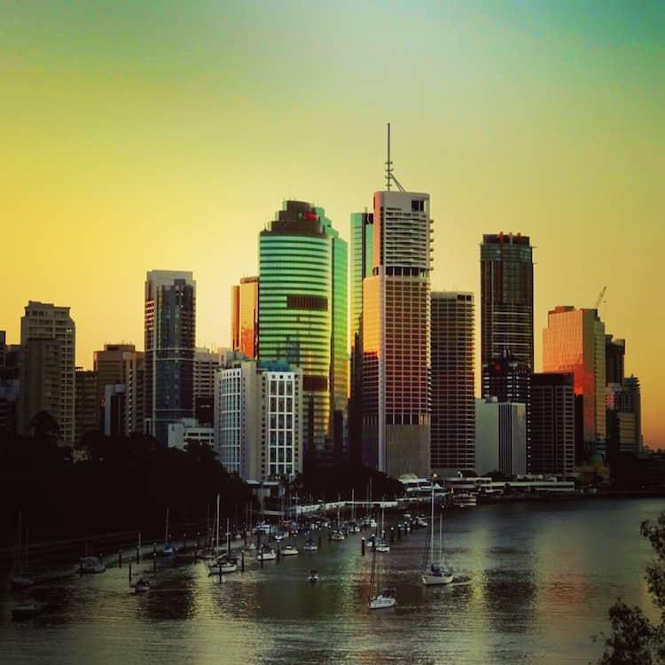 Brisbane Kangaroo Point Cliff Sunset