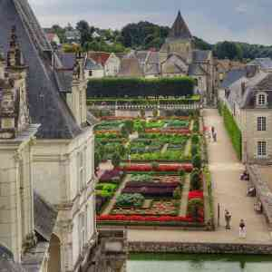 Loire Valley - Villandry Gardens from above 01