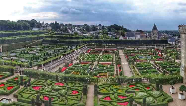 Loire Valley - Villandry Gardens from above 02