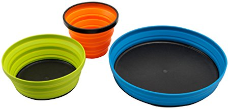 road trip collapsible plates bowls kitchen equipment car