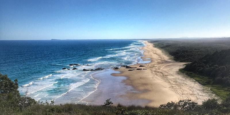 Crowdy Bay beach pano