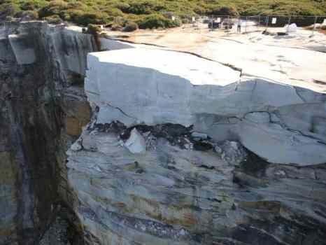 Wedding Cake Rocks Collapse - Royal National Park Sydney