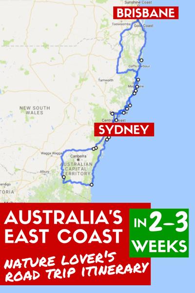 australia east coast road trip brisbane to sydney itinerary