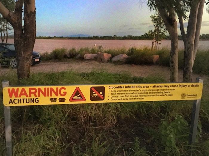 Burdekin River Crocodiles Warning Sign