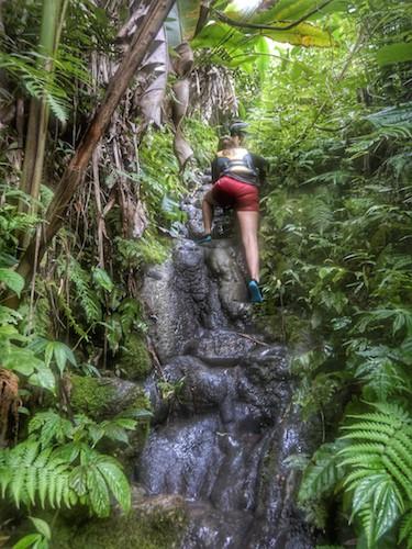 Millennium Cave Vanuatu Climbing back up
