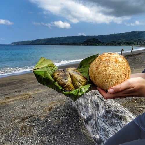 Vanuatu things to do - local food - tuluk and coconut