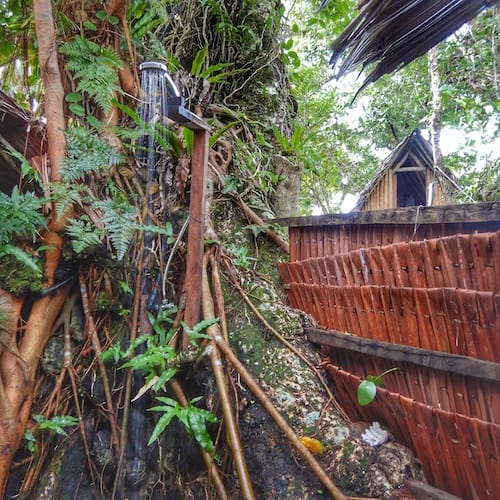 Shower smalltree house Port Olry Espiritu Santo Accommodation