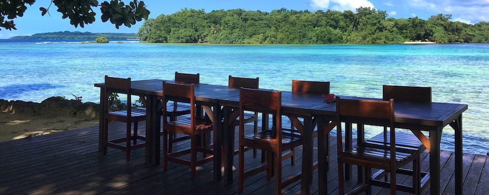 Turtle Bay Restaurant view - Accommodation Santo Vanuatu