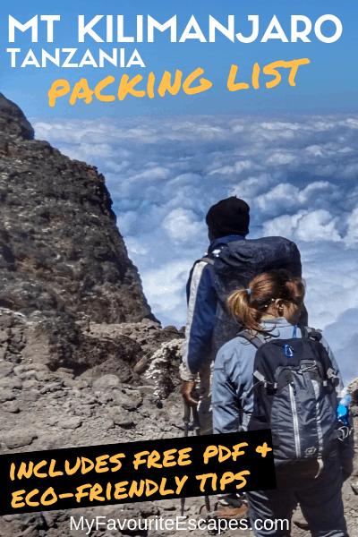 Packing List Mt Kilimanjaro Equipment Tanzania