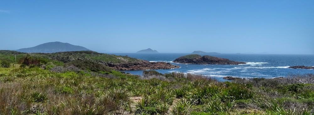 View from Point Stephens Lighthouse Shark Island Port Stephens