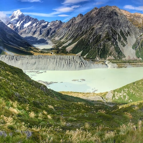 Mt Cook View From Sealy Tarns New Zealand