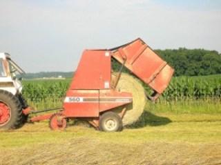 round bale of hay 2