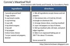 Meatloaf roll recipe card