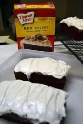 red velvet cake iced