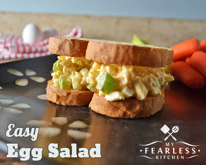 thick egg salad sandwich