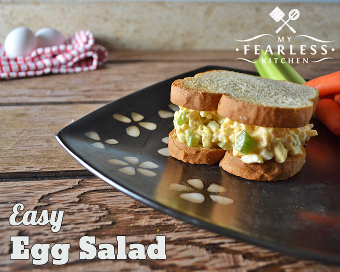 egg salad sandwich on thick-sliced bread