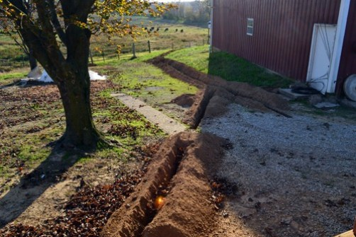backyard trenches