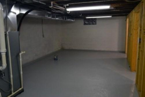 basement east end sealed wall