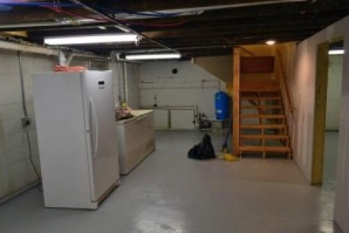 basement freezer west end walls ready