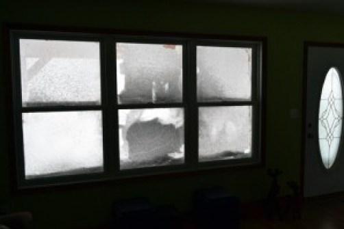 snow covered windows