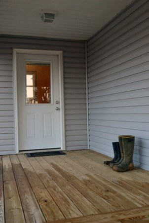 boots on the porch