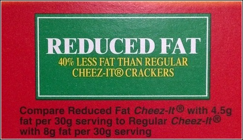 reduced fat crackers