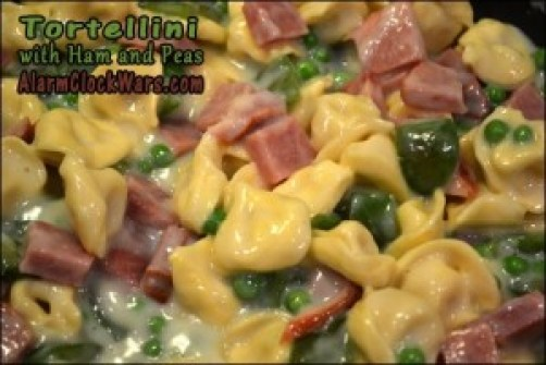 tortellini with ham and peas