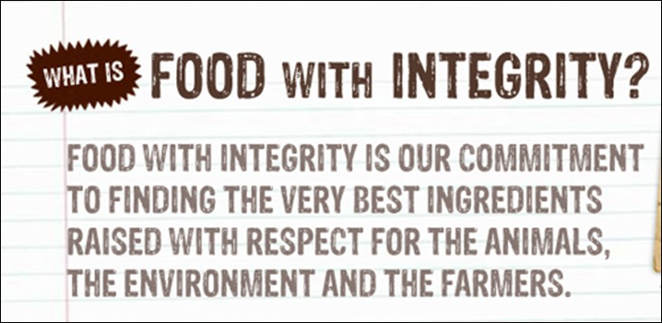 Chipotle food with integrity