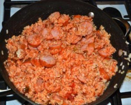 sausage salsa and rice